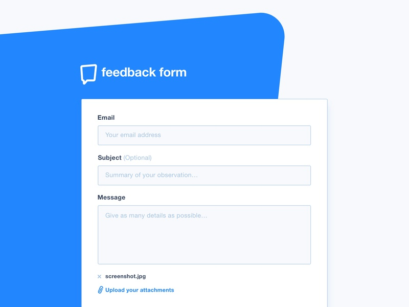 Feedback Form - XD Freebie adobe xd design download feedback form free freebie ui