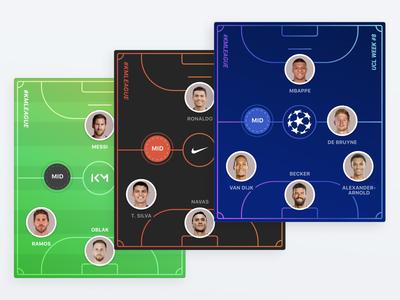 Kylian Mbappe App players brand customization product design ios ux ui app mobile sport fantasy pitch playground soccer football kylian mbappe mbappe kmbappe km