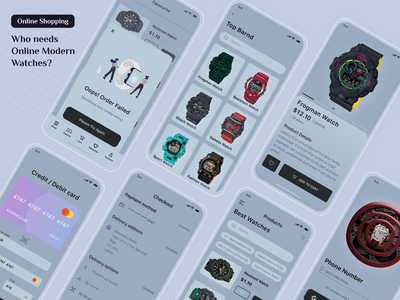 Modern Watch App Design design ui ux website branding website design mobile app design product design graphic design landing page design
