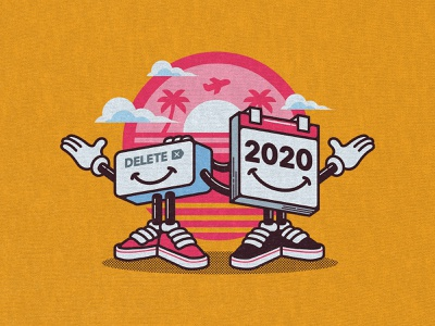 Delete 2020 digital art cartoons tshirt design merchandise design drawing illustration design threadless teepublic redbubble quarantine pandemic 2020