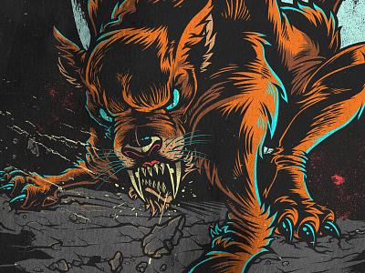 Sabretooth illustration monster sabretooth