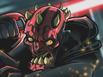 Darth Maul illustrator graphics fan art digital art comics cartoons vector drawing art illustration design sith darth maul star wars