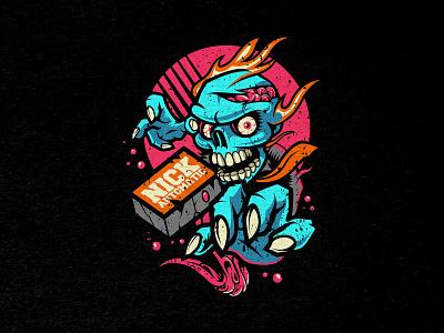 Outbreak   T-Shirt design illustraion merchandise design merch design tshirt design tshirt art walking dead zombie