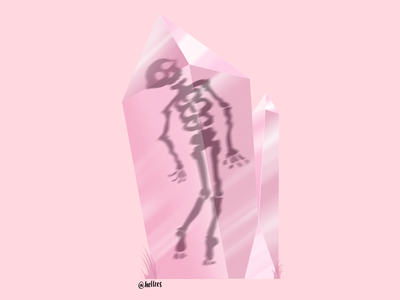 Amethyst hellzes skeleton pink artwork digital painting digital art digital illustration illustration