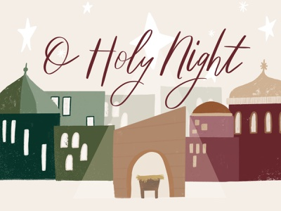 O Holy Night: TV Cover nativity christmas christmas design church christmas youth group design church design design illustrator illustration