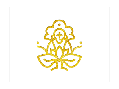monkey mindfulness gold lotus meditation monkey lineart design logo vector graphicdesign