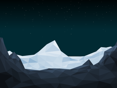Low Poly landscape 3d illustration illustrator landscape lowpoly polygon low poly