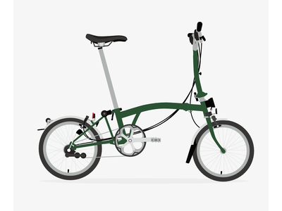 Brompton Green preview brompton vector poster affinity illustration