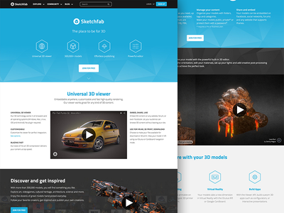 Sketchfab Features sketchfab features website