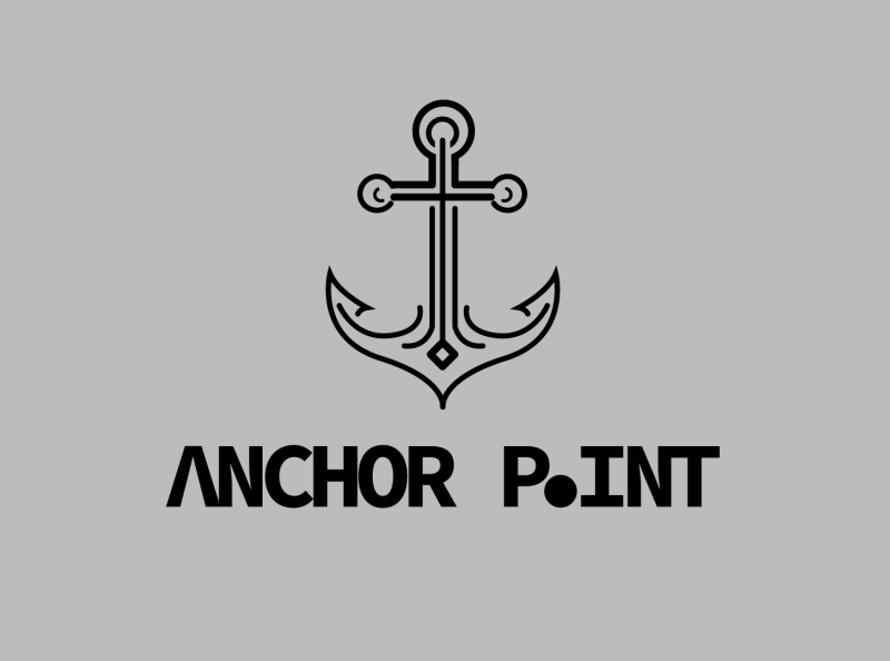 Logo Design - ANCHOR POINT vintage logo minimal logo vectorart logo thinking brand identity illustration flat logo iconic logo cartoon logo professional logo creative logo minimalist logo business logo adobe photoshop adobe illustrator typography