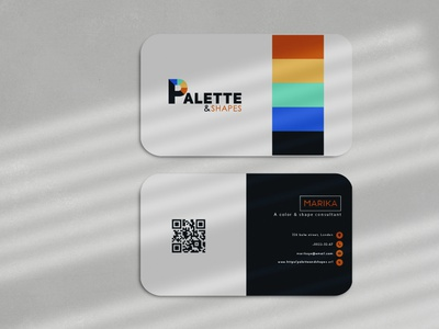 Business Card Design- Palette & shapes stationery business card design letterhead design logo identity brand identity colorful business card modern business card minimalist business card design logo design logo brand branding elegant business card minimal business card professional business card consultant business card feminine business card business card