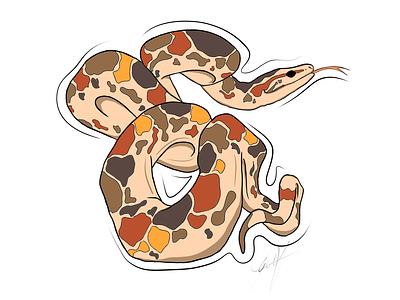 Snake sketch. Illustration. illustration drawing