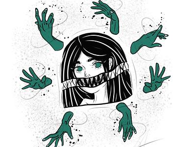 Girl illustration illustration drawing