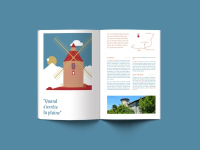 Your guide to stay in Dax france tourism guide edition typography colorfull design illustration