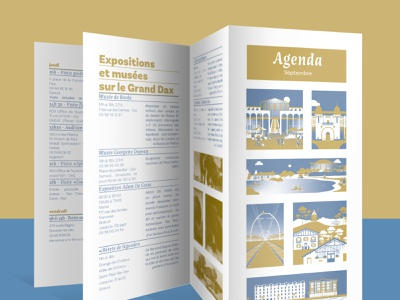 Agenda of activities france tourism edition branding typography colorfull design vector illustration