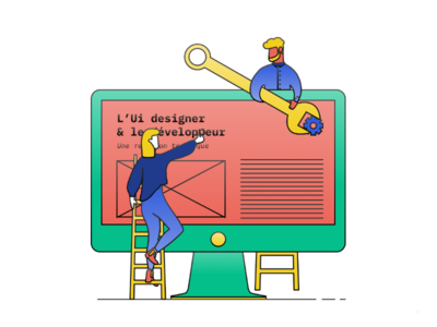 Illustration about relationship between Ui and Dev