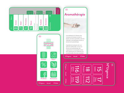 Village pharmacy, an identity for a pharmacy application pictogram illustration branding web application ui design ui
