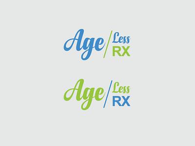 Age less RX logo design drawing design illustration logo