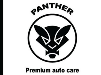Panther premium auto care logo design illustration logo design