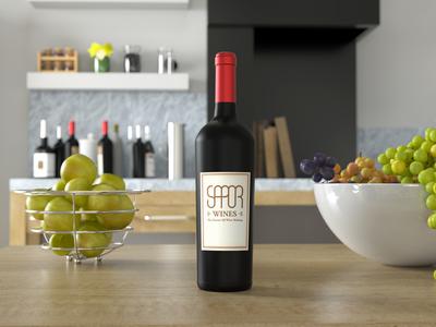 Sapor wine logo design