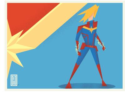 Capten Marvel flat design