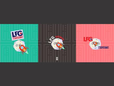 LFG Sporte logo design illustration branding design logo