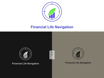 Financial life navigation logo design