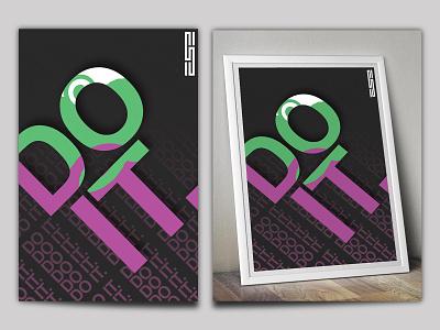 Do it poster designs web branding illustration