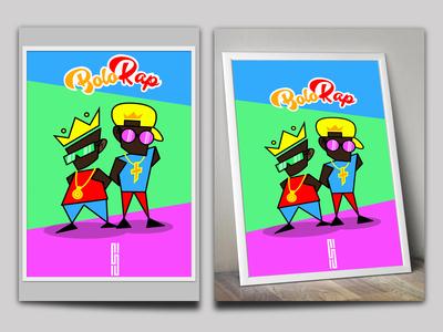 Bolo Rap poster design for wall