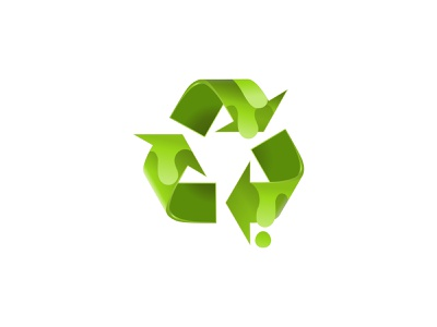 Realistic recycle paint logo design flat icon minimalist logos simple recycle recycle logo paint logo logodesign logo branding