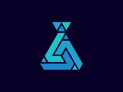Geometric lab logo flat logodesign design vector geometric bootle logo laboratorium logo lab logo icon simple logo branding