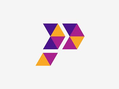 Colorful P logo minimalist minimalist logo logodesign simple logo colorful logo pp logo p logo simple flat icon design branding logo