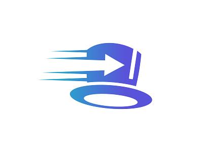 Delivery hat logo simple flat courier logo fast logo delivery logo delivery magic hat logo hat logo logodesign design logo icon branding