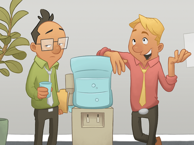 Revisit work water character design digital illustration