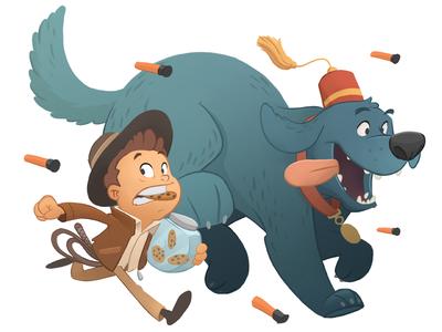 Raiders of the Cookie Jar cookies dog indiana jones illustration