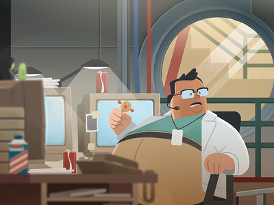 """""""..and you have BUTTERFINGERS?"""" butterfingers movies dinosaurs jurassic park nedry digital illustration"""