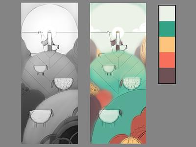 Value and Color Keys process color key photoshop digital illustration