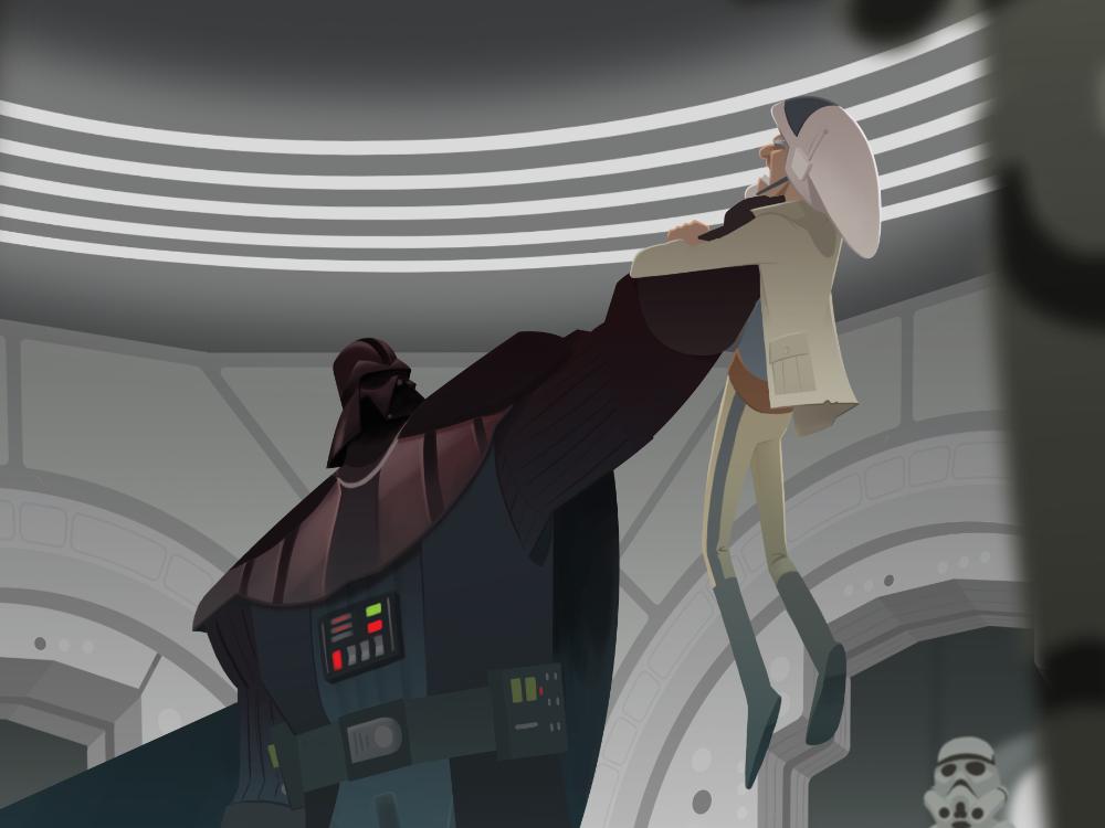 Diplomatic Mission digital photoshop character design drawing fanart illustration rebels star wars vader darth vader