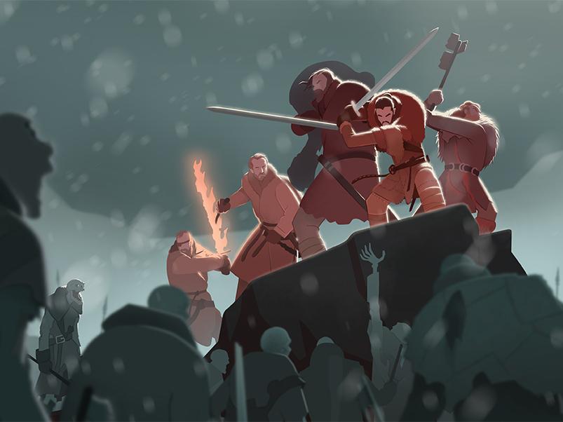 Beyond the Wall got photoshop digital fantasy illustration gameofthrones