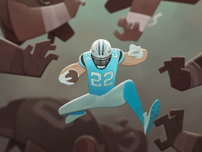 CMC digital illustration digitalart cmc panthers carolina football digital illustration