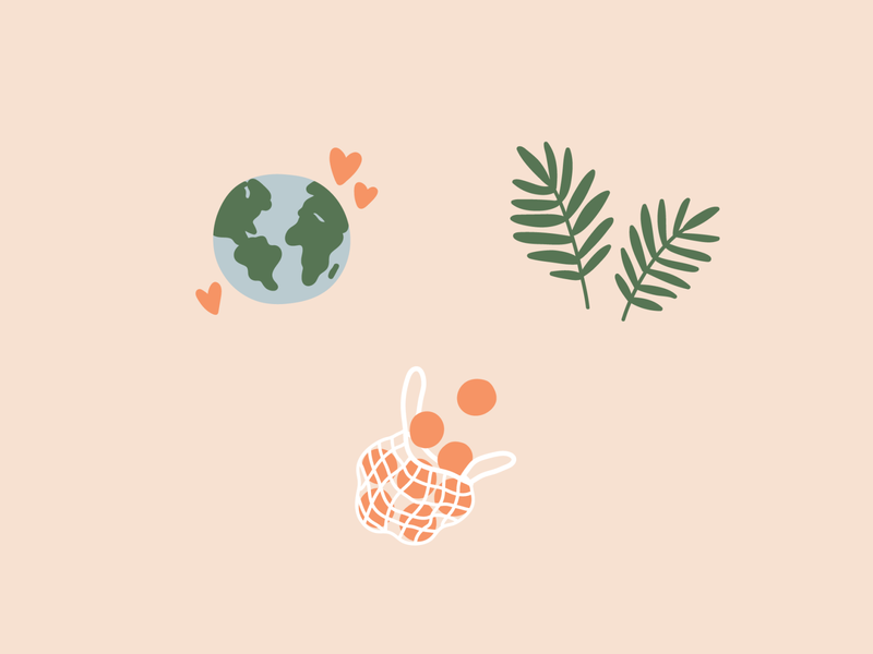 zero waste icons instagram highlight covers social media icons etsy eco earth friendly leaves plants oranges produce bag produce earth icon design icons digital download zero waste