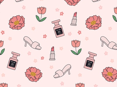 Spring Wallpaper blogger makeup blush tom ford perfume feminine spring flowers repeat illustrated pattern pattern lipstick tulips peonies peony pink