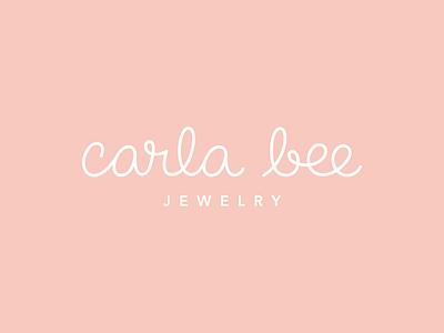 Carla Bee Jewelry cute cheerful playful effortless feminine loops script logo branding jewelry designer retro logotype script handlettering handwriting logo design