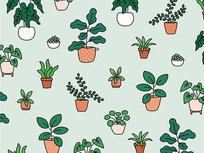 free houseplant wallpaper potted plants houseplants illustrated plants plant pattern plants mobile lockscreen free wallpaper free background digital download free download mobile wallpaper