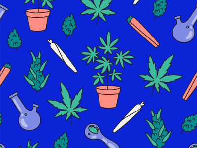 High There pattern cannabis leaf cannabis plant brand pattern repeating pattern pattern design illustration blunt pipe bud legalize weed 420 high there app cbd marijuana weed cannabis