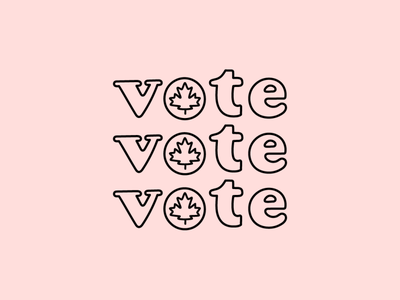 September 20th minimal design canadian politics election outlined type typography canada vote