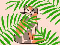 Cat in Plants