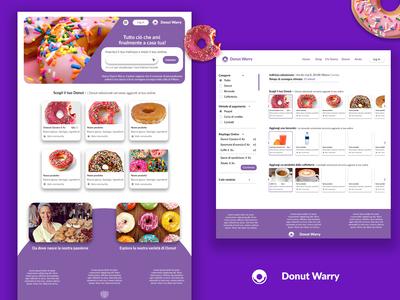 Donut Warry - Donut Ecommerce Website