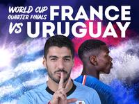 World Cup: Uruguay vs France