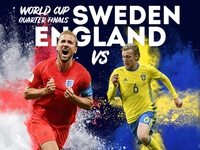 World Cup: England vs Sweden